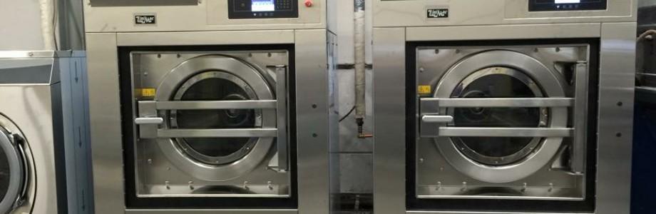 Wasserij opstelling 2 x Unimac UY400 40kg bedrijfswasmachine