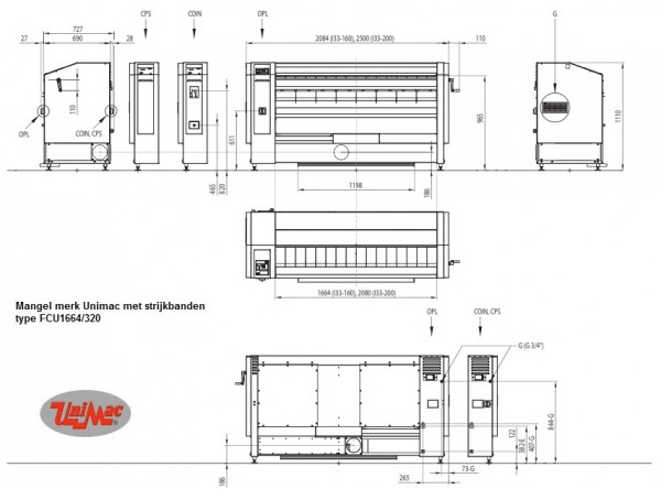 unimac strijkmangel schema FCU1664-320