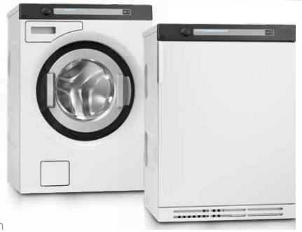 semi professionele wasmachine en droger 6 kg van goud laundry solutions luchtafvoer condens of warmtepomp