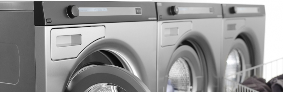 semi professionele wasmachines 6 kg op rij van goud laundry solutions