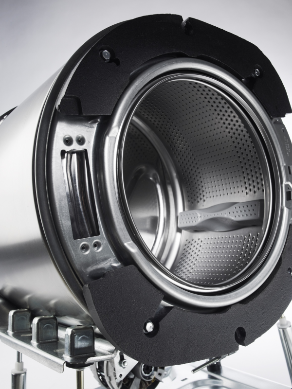 voorkant semi professionele wasmachines 6 kg van goud laundry solutions